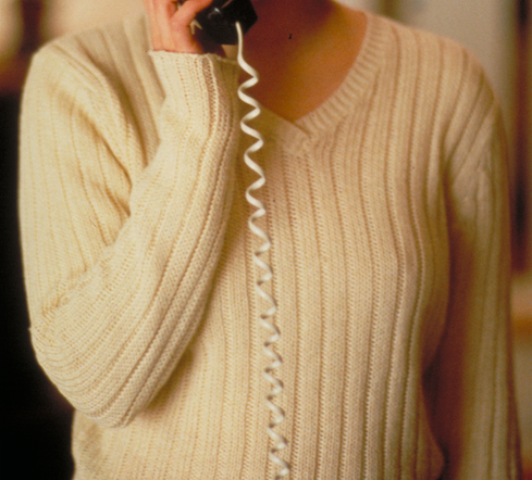 Where did you last see this cream v-neck sweater?